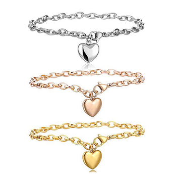 Love Heart Chain Bracelets