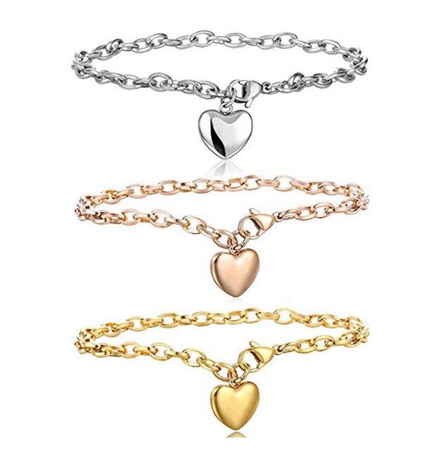 Love Heart Chain Bracelets
