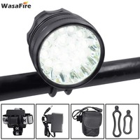 WasaFire 16x T6 LED Bicycle Light 40000lm Bike Headlight Front Lamp Cycling Flashlight 8.4v 9600mAh 18650 Battery Pack + Charger|Bicycle Light|   -