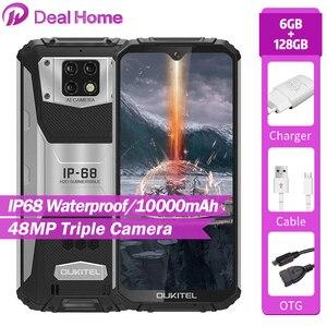 OUKITEL WP6 6,3 FHD + IP68 глобальная Версия Мобильный телефон 6 ГБ 128 ГБ 10000 мАч батарея Восьмиядерный 48 МП Тройная камера прочный смартфон
