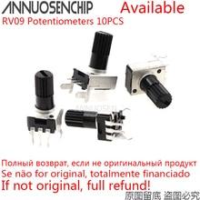 Adjustable Resistor Rotary-Potentiometer 50k-100k 20K RV09 10K 5K 1M 10PCS Vertical-12.5mm-Shaft