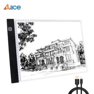 Светодиодный планшет Elice, USB светодиодный светильник, коробка для копирования, цифровая Графическая панель, электронная художественная гра...