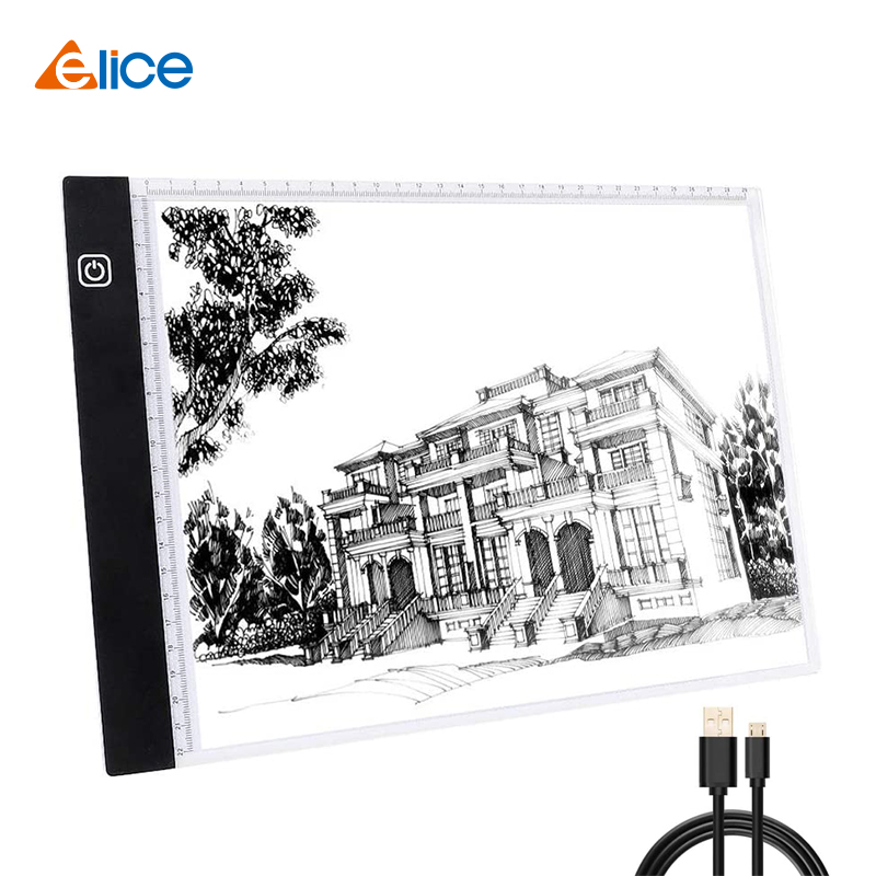 Elice A4 LED Drawing Tablet USB LED Light Box Copy Board Digital Graphics Pad Electronic Art Graphic Painting Writing Wacom