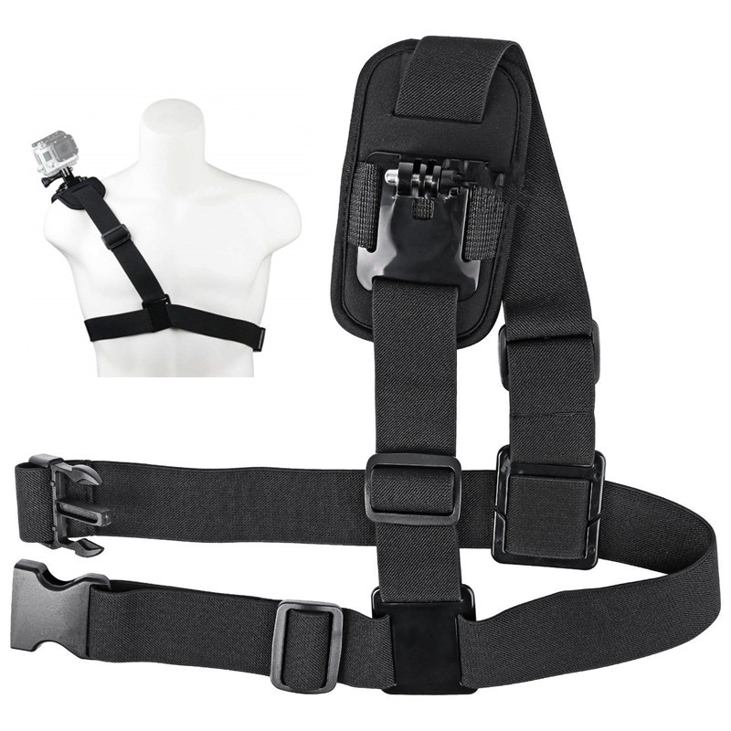 For Gopro Accessories Shoulder Strap Mount Sports Camera Shoulder Chest Strap Supports Belt For Gopro Hero 8 7 6 5 4 For YI DJI
