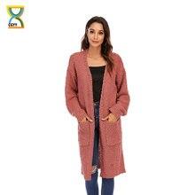 Модный женский мешковатый вязаный кардиган cgyy с длинным рукавом