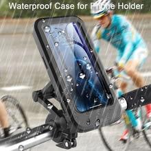 360 Rotatable Waterproof Bicycle Motorcycle Mobile Phone Holder Bike Handlebar Non-slip Clip Stand GPS Mount Bracket