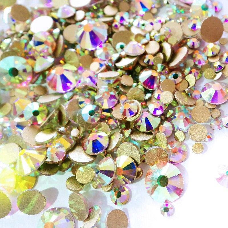 С украшением в виде кристаллов, не для горячей фиксации стразы, короткая стрижка, с украшением в виде кристаллов SS16 SS20 SS30 Swar Стекло драгоценн...