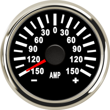 1pc ±150A Auto Pointer Amp Meters 52mm Motorcycle Ammeters Black Dial Amperemeters 9 32v Ampere Gauges with Sender for Ship Cars