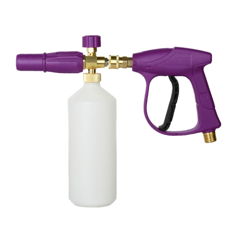 Limpiador de coches 3000 Psi pistola de alta presión pistola de espuma de nieve pistola de chorro de espuma de cañón con hilo M14 M18 M22 nuevo Adaptador para boquilla de espuma/Cañón de espuma/generador de espuma/vaporizador de jabón de alta presión para Karcher K2 K3 K4 K5 K6 K7 lavadora a presión