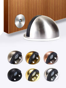 Furniture Hardware Stops Door-Stopper Magnet-Door Toilet Rubber Wood Stainless-Steel