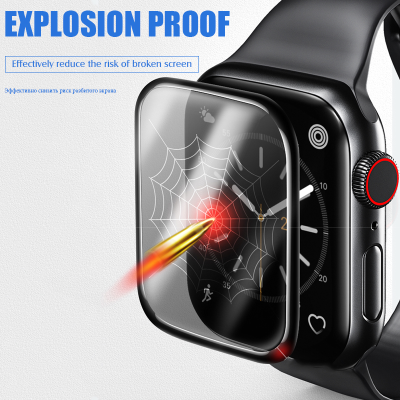 Image 2 - 20D Curved Full Cover Tempered Glass For Apple Watch 1 2 3 4 Screen Protector For Iwatch 38 40 42 44mm Protective Glass Film-in Phone Screen Protectors from Cellphones & Telecommunications