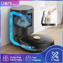 Uoni V980Plus Robot Vacuum Cleaner with Self-emptying Dustbin 8.0 Laser Navigation Robot Vacuum Cleaner for Carpet and Floor