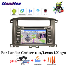 Android 9 0 samochodowy odtwarzacz DVD odtwarzacz multimedialny dla Lander Cruiser 100 dla Lexus LX 470 wieża Stereo DSP GPS mapa do nawigacji i multimediów tanie tanio Liandlee CN (pochodzenie) Double Din 256G Video cd Jpeg Hardware Electronics 1080P bluetooth Wbudowany gps Odtwarzacz cd