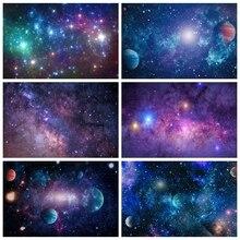Laeacco bebé cumpleaños Photozone universo espacio planetas brillos tierra poco astronauta recién nacido fondos fotografía fondos