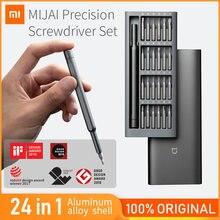 Original xiaomi mijia chave de fenda 24 em 1 chave de fenda de precisão conjunto kit ferramenta bits magnéticos xiomi ferramentas de reparo para casa inteligente