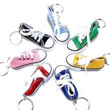 Porte-clés Mini chaussures en toile pour femmes et filles, accessoires bijoux, cadeau Souvenir, mignon, pochette, porte-clé