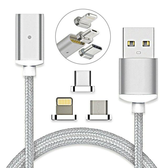 Câble magnétique USB USB Type C de Charge rapide chargeur magnétique chargeur de données câble Micro USB câble de téléphone portable cordon USB
