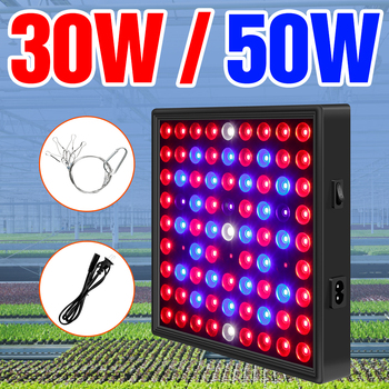 Indoor Plant Growth Light LED Full Spectrum Phyto Lamp LED Seedling Fito Light 30W 50W Flower Seed Hydroponics Growing Lampara wpd full spectrum 50w plant growth light 30w 80w indoor nursery growth light