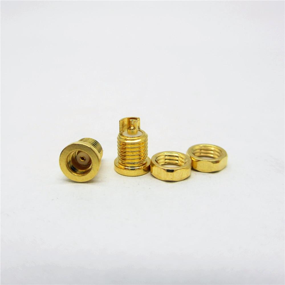 1pair Universal Pure Copper Plated Gold MMCX Socket Female Seat  Beryllium Copper Pin DIY
