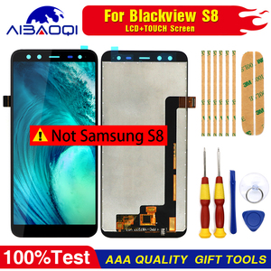 Image 2 - 100% Original Blackview S8 écran LCD + écran tactile assemblée pour Blackview S8 outils + 3M adhésif