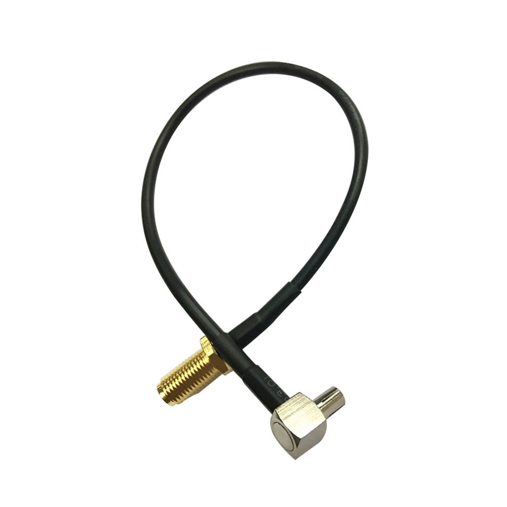 1Pcs  20cm TS9 Male to SMA Female Right Angle Antenna Pigtail Coaxial Cable Connector Adapter