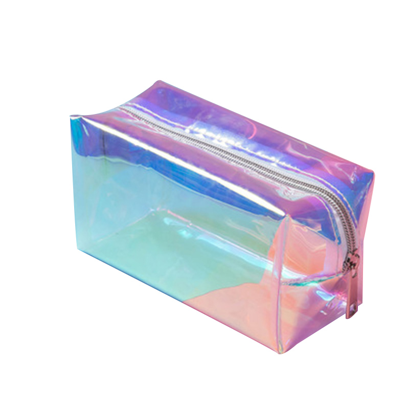 Holographic Makeup Bag Cosmetic Travel Bag Toiletry Organizer Purse For Women HSJ88