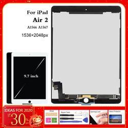 Для iPad Air 2 lcd A1567 дисплей сенсорный экран A1566 Замена для iPad 6 Air 2 ЖК дигитайзер матрица экран сборка Air2 запчасти