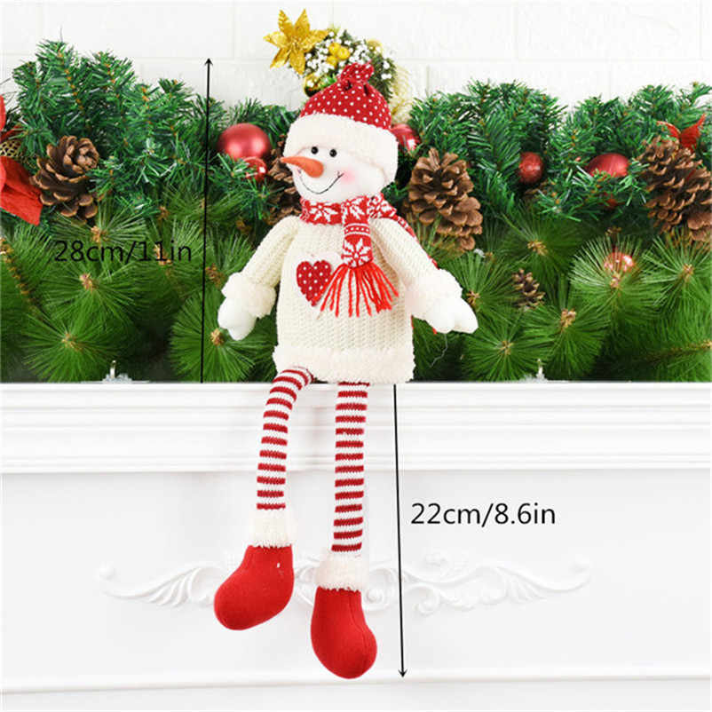 Dekorasi Natal untuk Rumah Santa Claus Snowman Elk Duduk Angka Boneka Natal Pohon Natal Dekorasi Indah Merah Mainan Natal