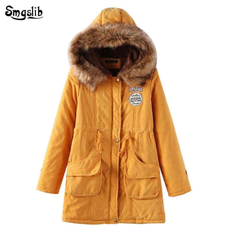 2019 Women Long Winter Jacket Women Sweet Letter Parka Women Warm Padded Jacket Long Female Winter Jacket Hooded Plus Size