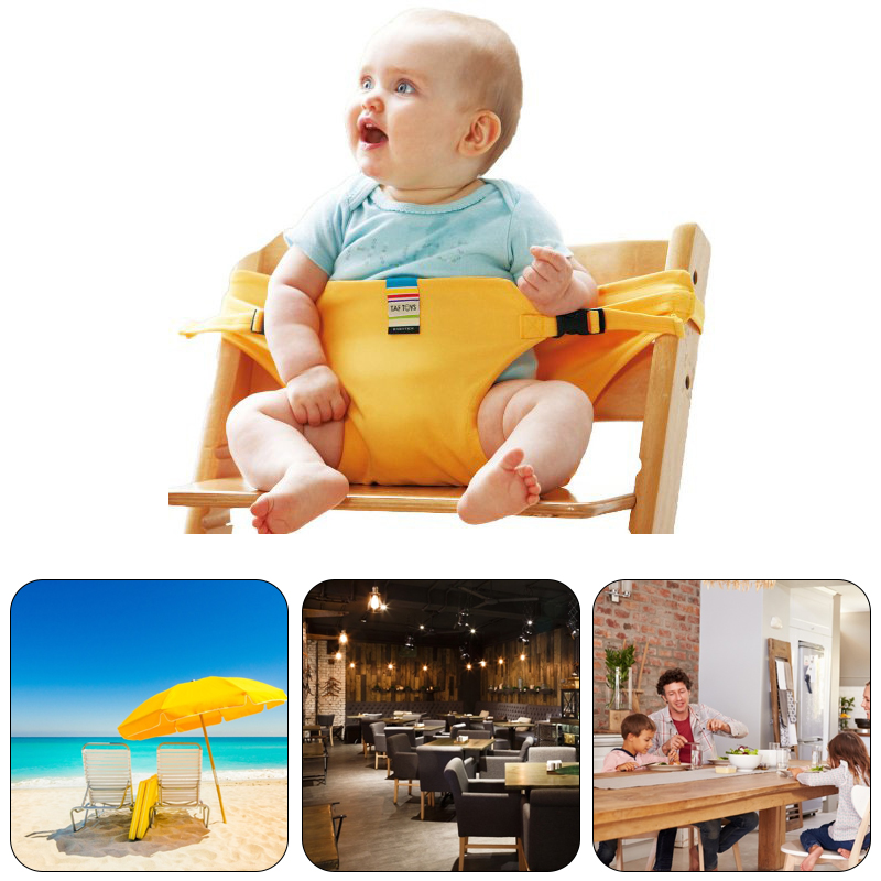 Portable Baby Seat, Folding Travel Chair, Washable, Kids Dining Cover, Auxiliary Seat Safety Belt