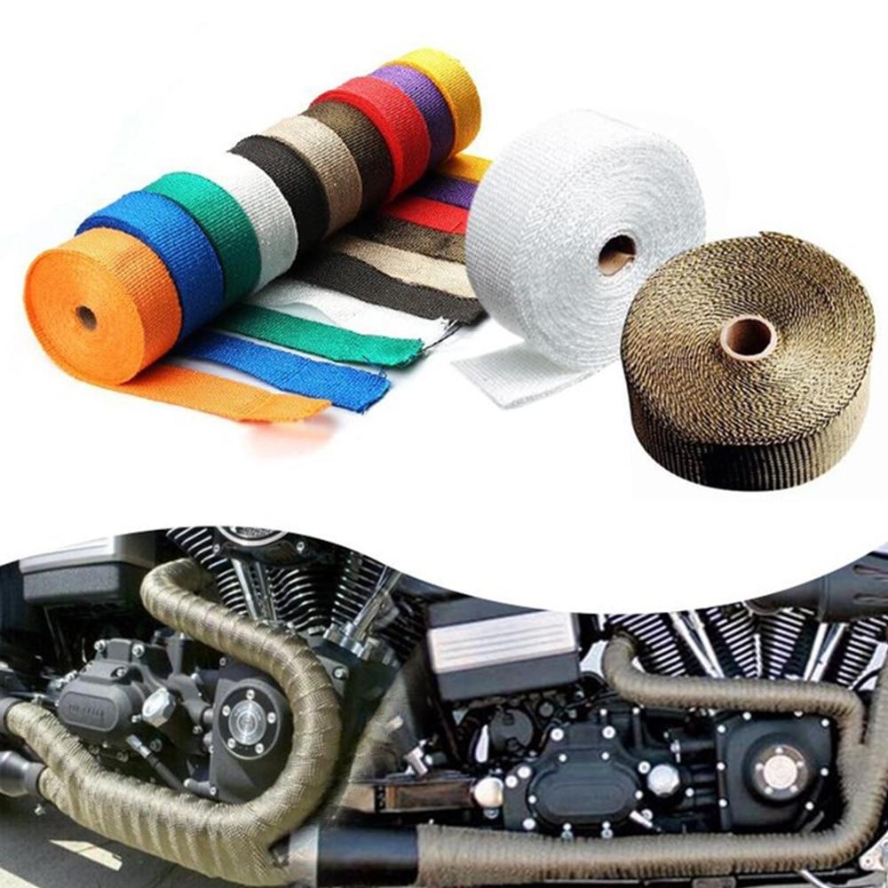 자동차 및 오토바이 배기 파이프 insulationtape 감소 후드 열 불연성 터보 과급기 배기 가방 엔진 부품 보호
