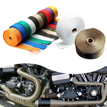 Car Motorcycle Exhaust Pipe Insulation Belt 1.5mm*25mm*5m Incombustible Turbo Manifold Heat Wrap Tape Protect