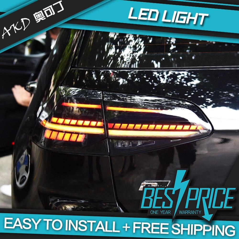 AKD tuning autos Schwanz lichter Für Golf 7 Golf MK7 Golf 7,5 Rückleuchten LED DRL tagfahrlicht Nebel lichter engel augen Hinten parkplatz
