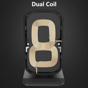 Image 3 - Desktop Wireless Phone Charger Metal Stand Holder for Xiaomi mi9 10W Fast Charge Qi Wireless Charger for Samsung S10 S9 S8 Plus