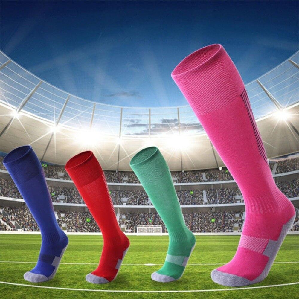 Children Football Socks Boys Soccer Sock Kid's Above Knee Plain Socks Long Soccer Stockings Men Over Knee High Sock Baseball