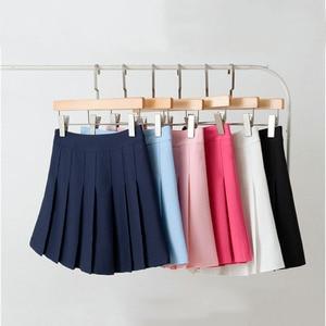 Allenamento vestiti delle donne Gonnelline da Sport Golf Tennis Pannello Esterno Built-In shorts Mutande Scuola A Pieghe Gonna A Vita Alta Per Le Prestazioni di Formazione