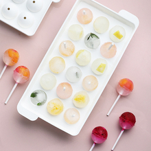 18 Cavity Diy Ice Cube Tray Round Ball Maker Mold Ice Mould Whiskey Ice Tray For Bar Tool Kitchen Gadget Accessories