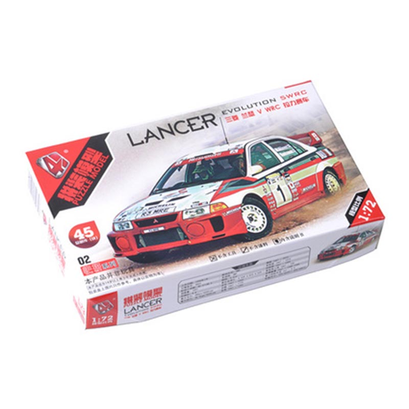 4D Assembled 1/72 Classic WRC Rally Car Model 4 Simulation Internal Structure Details Assembled Toy Ornaments