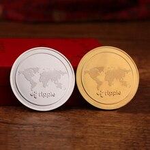 Монета Ripple XRP 24K настоящий золотой значок Platec 40 мм Новый Сувенир Монета памятная монета горячая распродажа