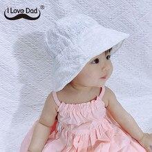 Verão respirável chapéu de sol do bebê bonito da flor da menina do bebê praia chapéu crianças ao ar livre balde tampão oco infantil do bebê bonés