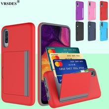 Funda de negocios de Color caramelo para Samsung Galaxy A20, A30, A50, S20, Ultra Plus, carcasa con ranuras para tarjetas, para Samsung S20 + A 50, 30, 20