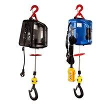 500 кг 7,6 м Портативная Электрическая Лебедка ручная лебедка Тяговый блок Электрический стальной трос подъемная лебедка буксировочный трос