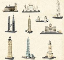 Playmobil City Classic Architecture House Legoing Creator Street View Building Blocks Children Toys Sets Taj Mahal Big Ben Model