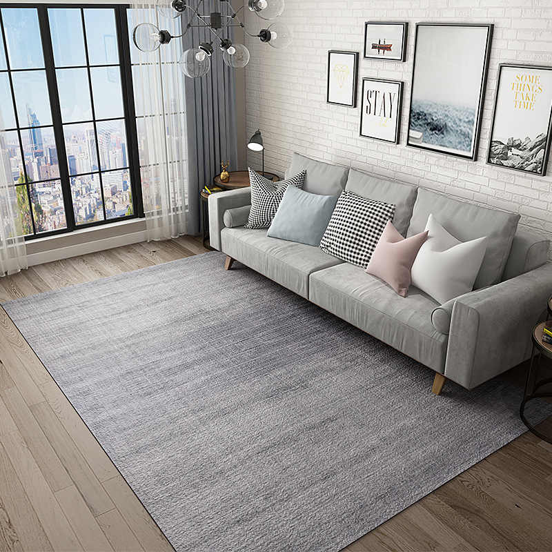 Solid Grey Large Carpets Living Room