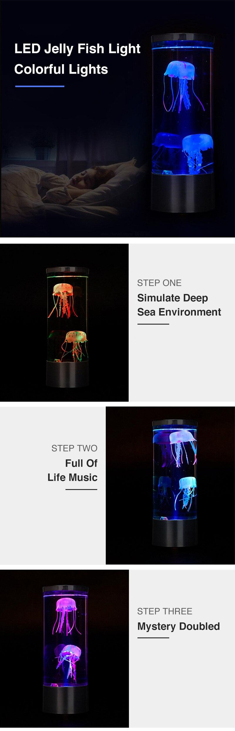emissor de luz da água-viva realista sala
