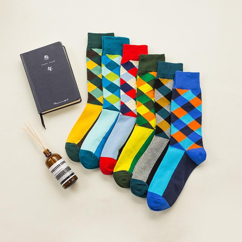 Men's Socks Summer Sweat-proof Breathable Deodorant Sports Men's Cotton Socks Men's Casual Happy Socks Retro Hit Color Socks