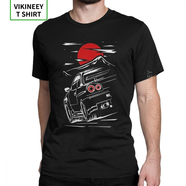 Asia size shirt Nissan Skyline GT-R 33 Car Racing Cotton T-SHIRT