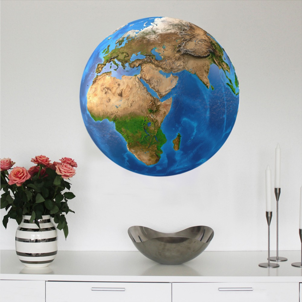 New-20cm-3D-Wall-Stickers-for-Kids-Room-Luminous-Moon-Star-Earth-living-room-decoration-Glow(3)