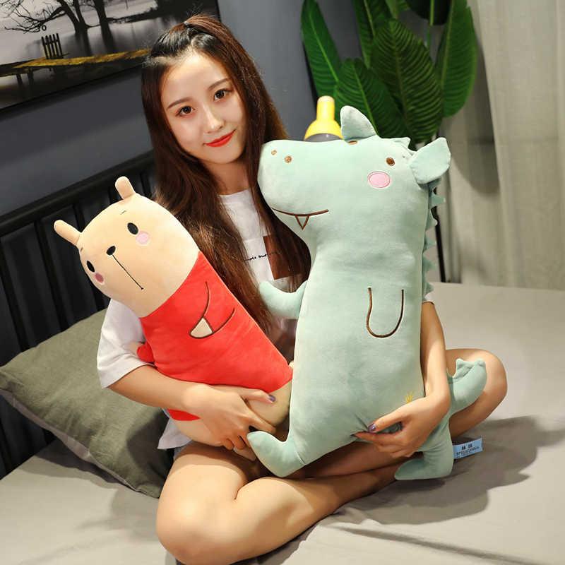 Yeni 1 adet 50/70/90CM sevimli küçük ayı peluş oyuncak öpücük domuz yastık noel hediyesi çocuklar için doğum günü kızlar sevgililer günü hediyesi