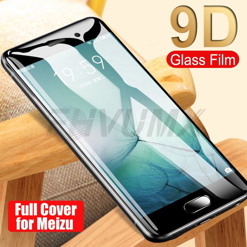 9D Protective Glass For Meizu M3 Mini M5 M6 Note M3S M3E M5C M5S M6S Pro 7 Plus Tempered Glass Full Screen Protector Film Case
